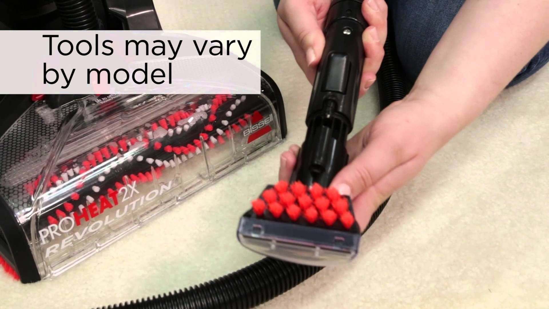 how to use bissell proheat 2x hose
