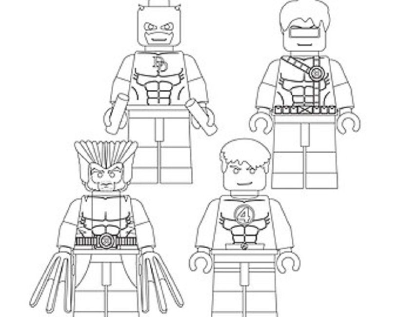 Lego X Men Coloring Pages Background