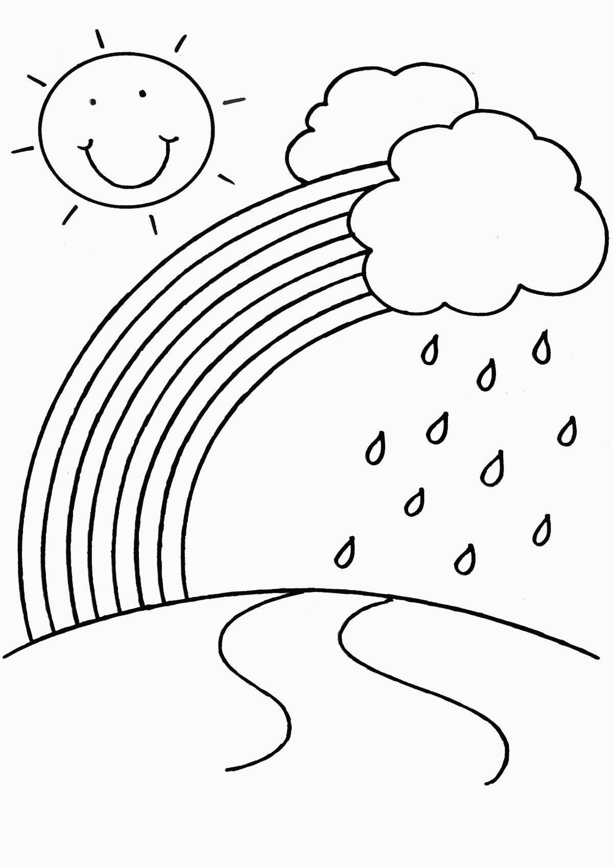 Rainbow Coloring Page Printable Awesome Rainbow Coloring Pages For Childrens Printable Fo Kindergarten Coloring Pages Spring Coloring Pages Free Coloring Pages