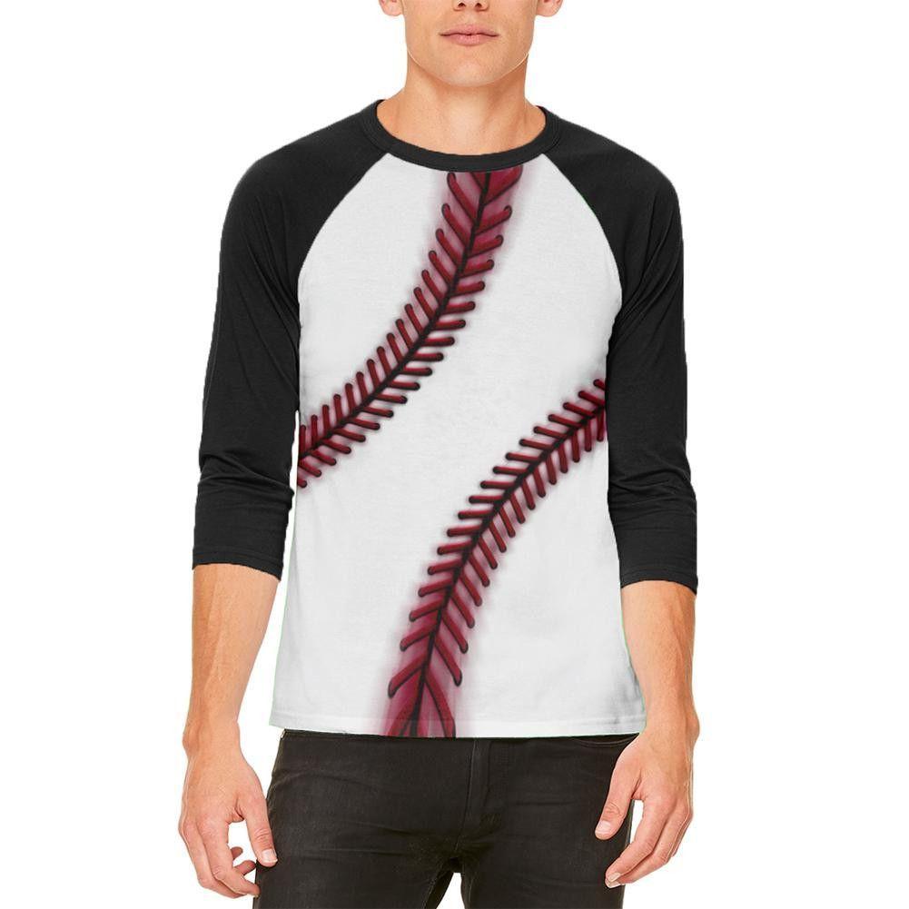 Fastball Baseball Mens Raglan T Shirt