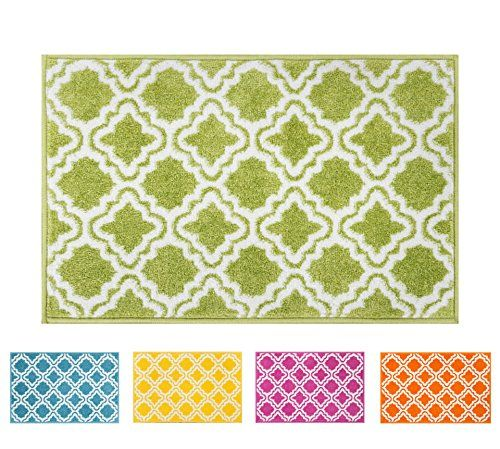 Small Rug Mat Doormat Well Woven Modern Kids Room Kitchen Rug - Lime green bath mat for bathroom decorating ideas