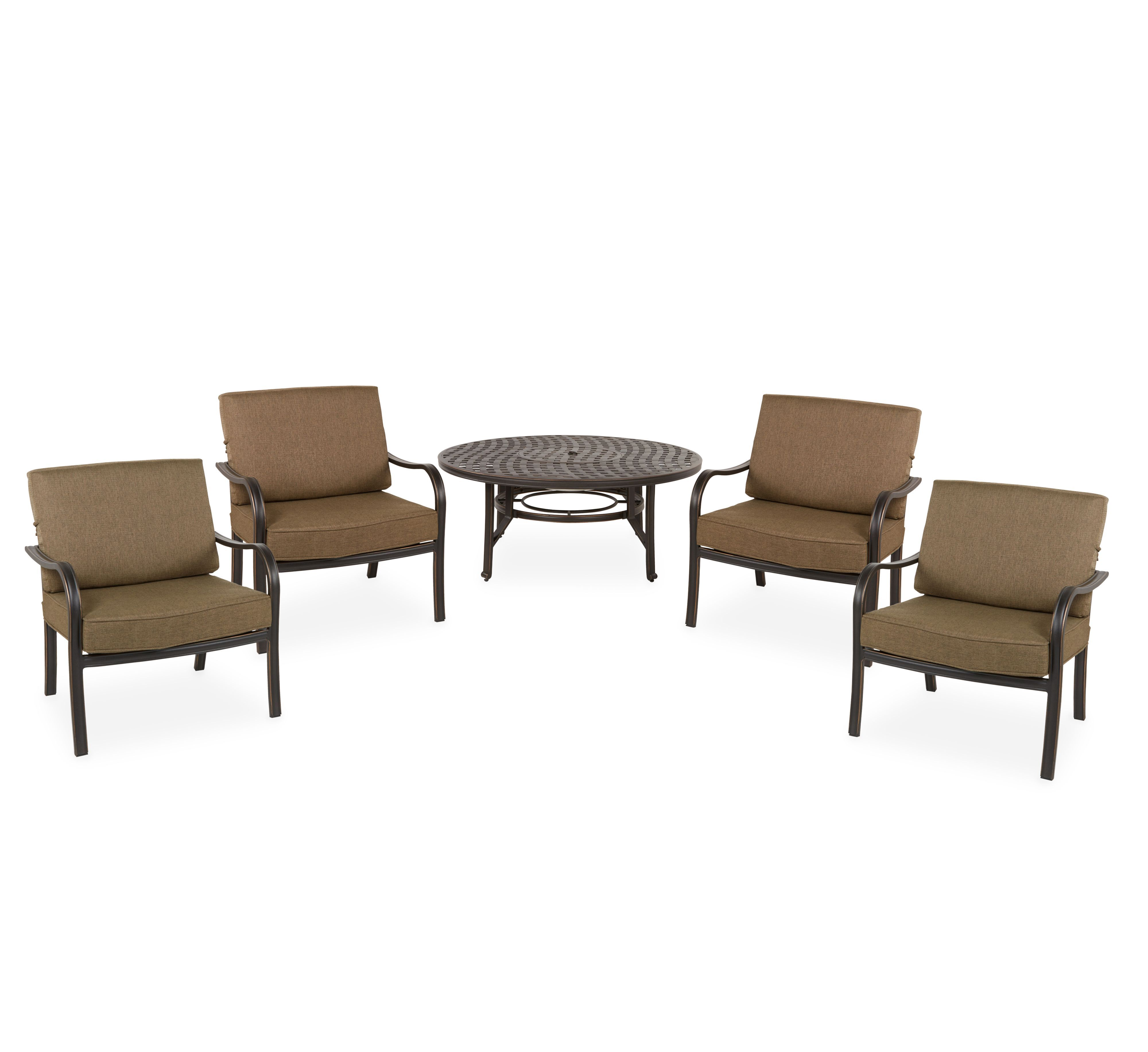 Ripley Metal 4 Seater Fire Pit Dining Set