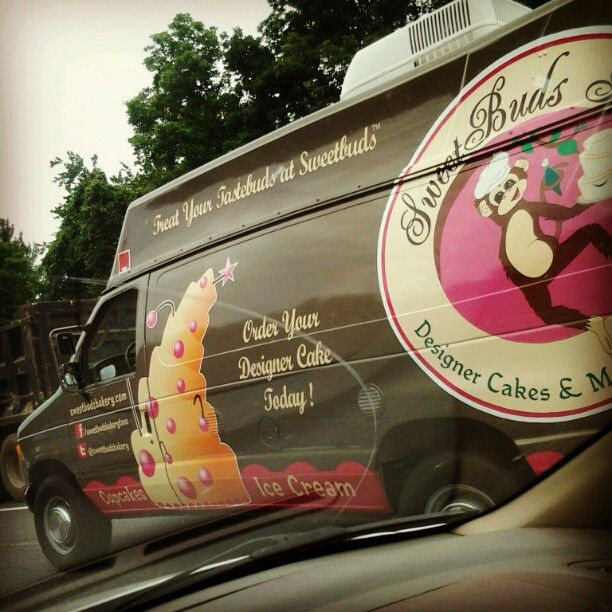 SweetMobile Food Truck on the road (captured by one of our loyal customers!!) ~ Like the Fan Page: http://www.facebook.com/sweetbudsbakeryfans