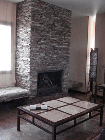 Chimeneas Chimenea De Laja Multicolor Home Fireplace Outdoor Fireplace