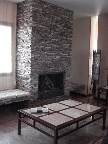 Revestir chimenea prolongacin chimenea fireplace - Radiadores de piedra ...