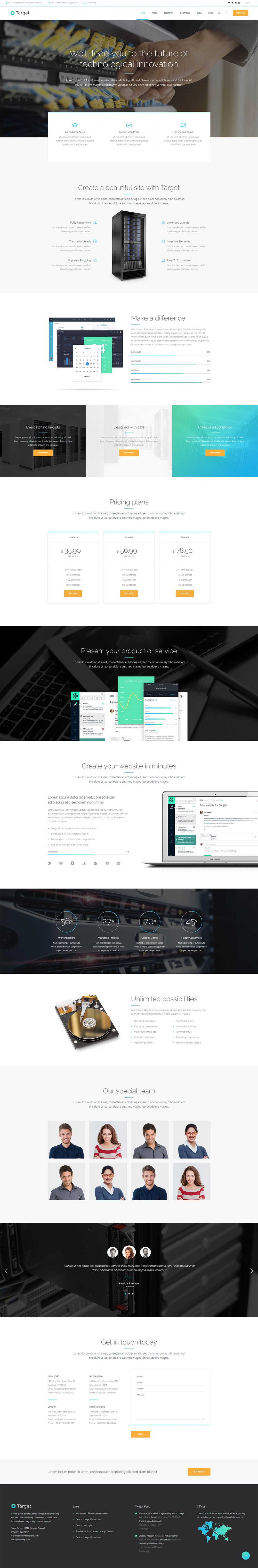 Present Your It Business In All Its Glory With Target Wordpress Theme Wordpress Theme Layout Business Wordpress Themes Web Design Graphic Design Projects