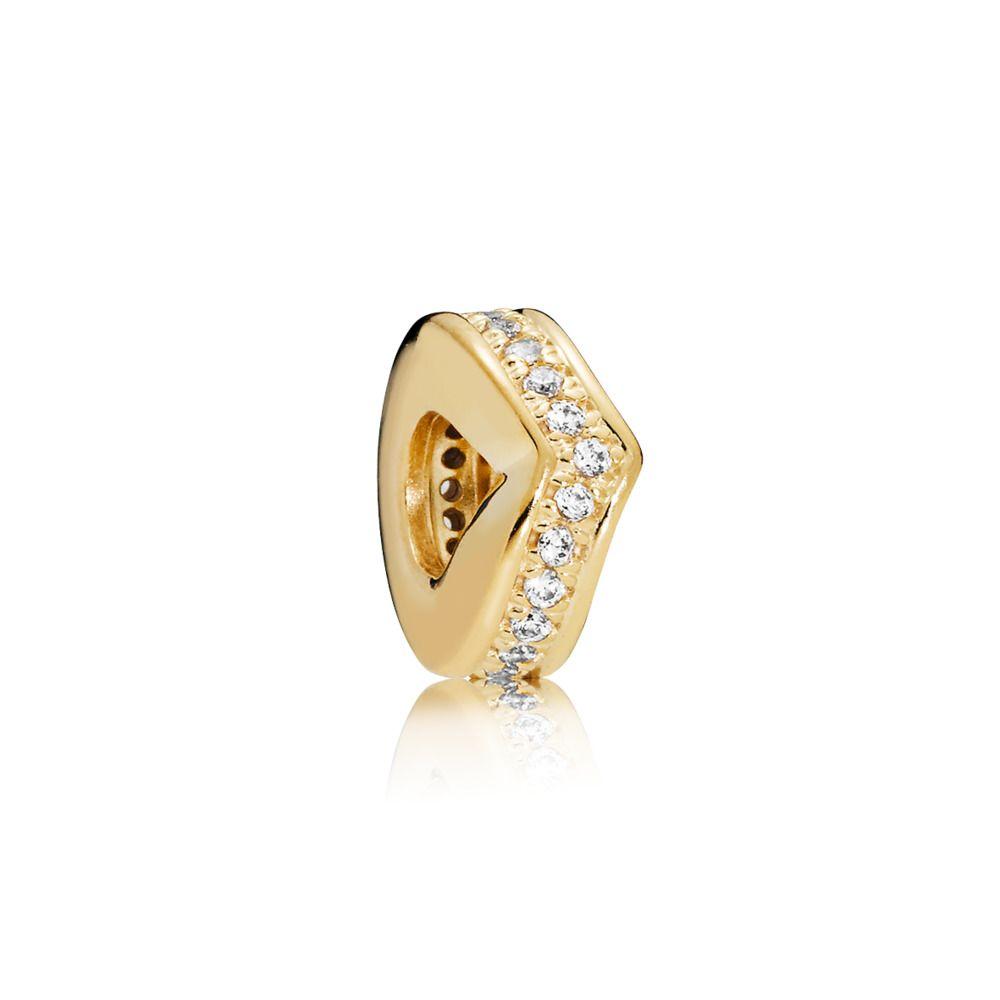 e93e5f705 Shimmering Wish Spacer, PANDORA Shine™ & Clear CZ, 18ct Gold Plated, Cubic  Zirconia - PANDORA - #767808CZ
