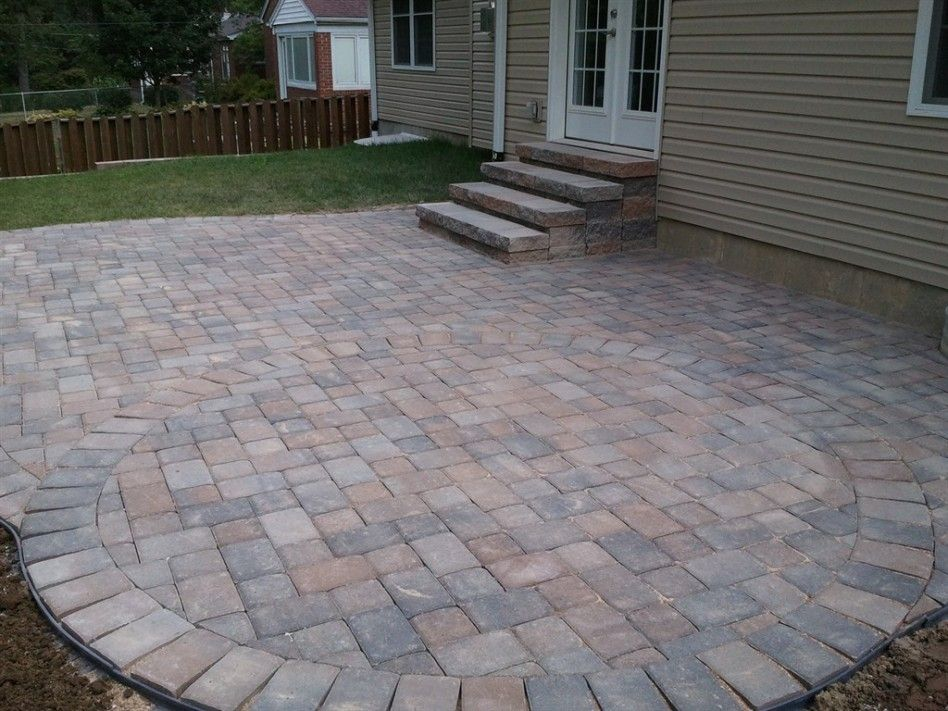 Color scheme, red/gray. exterior-gorgeous-backyard ... on Red Paver Patio Ideas id=51181