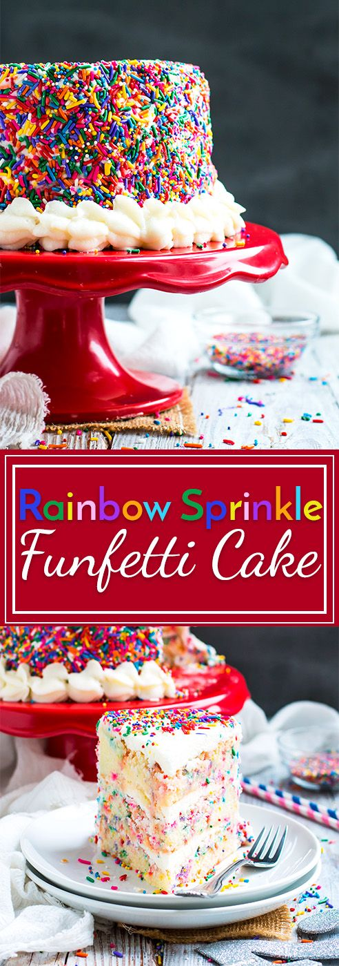 Funfetti Cake With Rainbow Sprinkles Recipe Gluten Free Recipes