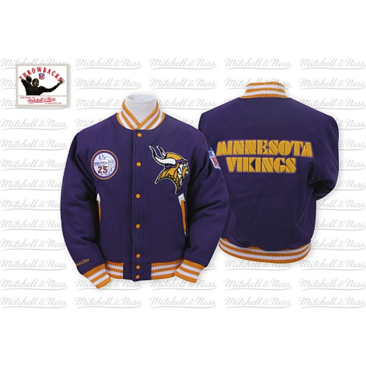 info for 78b50 0edb8 Mitchell & Ness Vikings Jacket 100% Wool from Gary's Sports ...