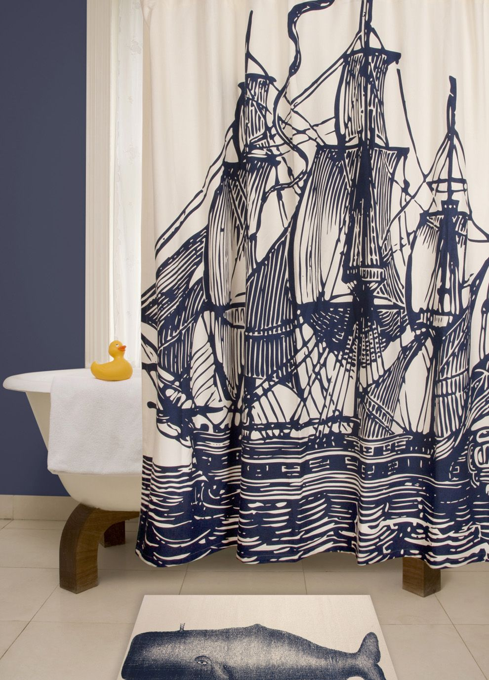 Thomaspaul Ship Shower Curtain Could Make This With Dye And Paint