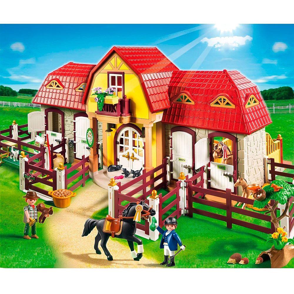 Playmobil granja de ponis con establo una granja con for La granja de playmobil precio