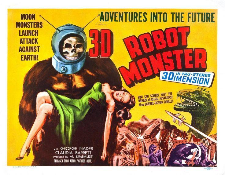 Robot Monster Poster Wallpaper Background Robot Monster Classic Monster Movies Horror Movie Posters