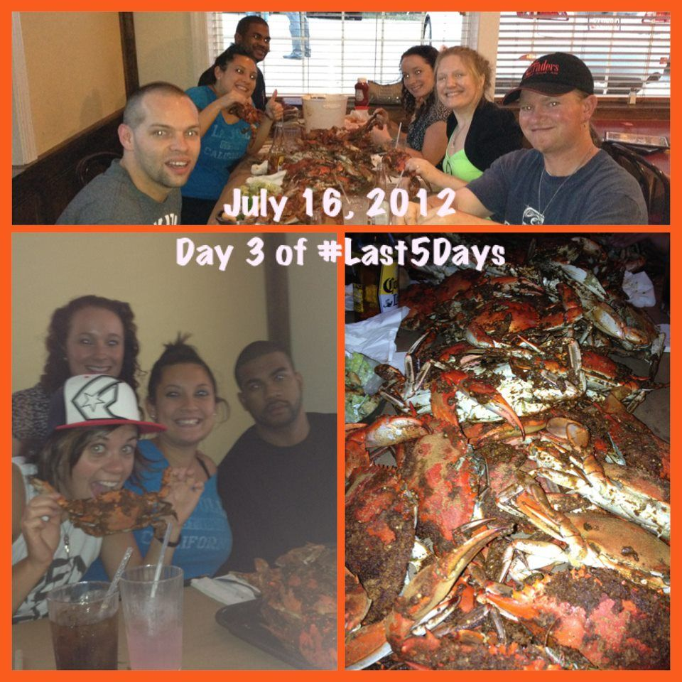 Day 3 of Last 5 Days - Crab feast!
