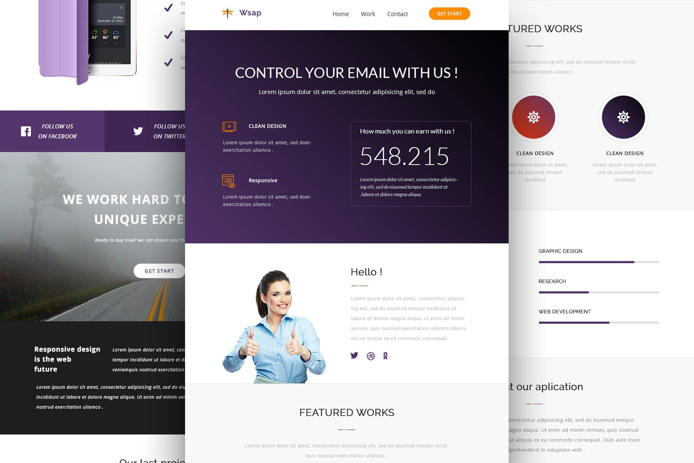 Wsap Responsive Email And Newsletter Template By Castellab On