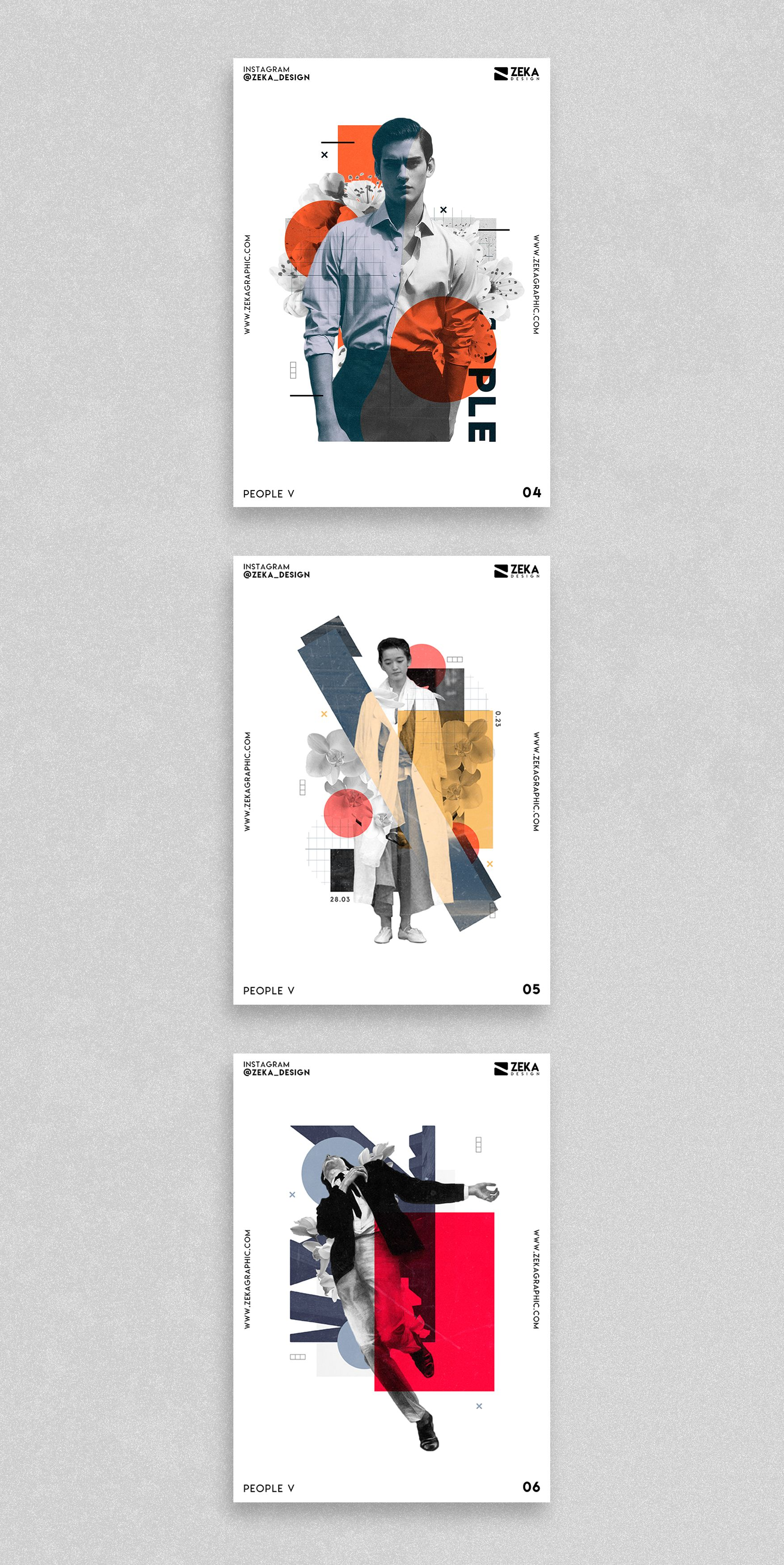 People Poster Design Series Poster Art And Graphic Design Project By Zeka Design In 2020 Graphic Design Layouts Graphic Design Projects Minimalist Poster Design
