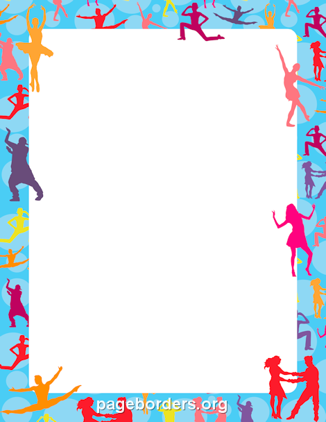 Printable dance border. Use the border in Microsoft Word or other ...