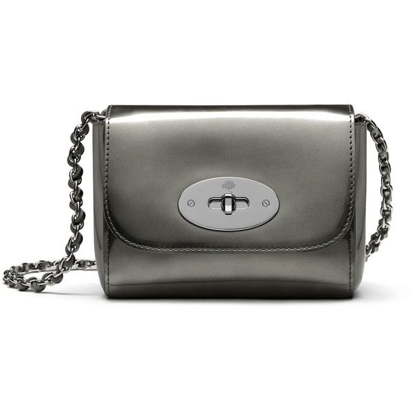 Mulberry Mini Lily (9,595 MXN) ❤ liked on Polyvore featuring bags, handbags, shoulder bags, silver, chain shoulder bag, chain strap purse, mini shoulder bag, miniature purse and mulberry handbags
