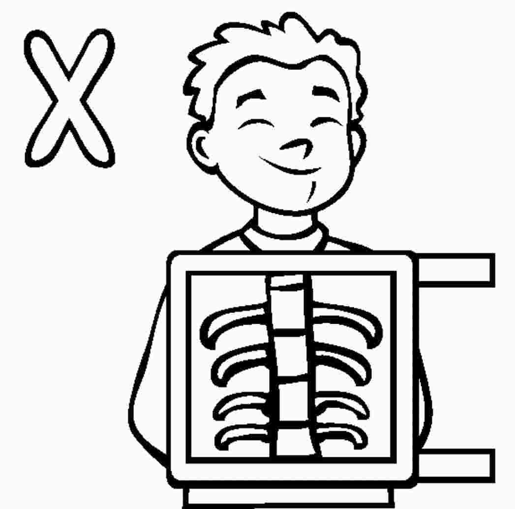 Letter X Is For X Ray Coloring Page From Learn English Alphabet