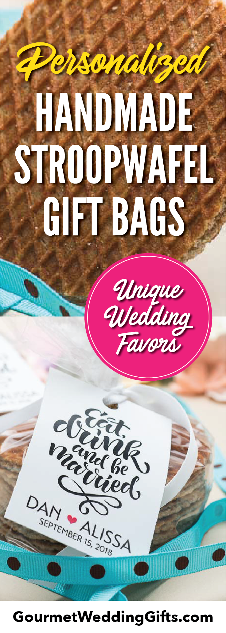 Personalized Stroopwafel Gift Pack Wedding Favors | Unique Edible ...