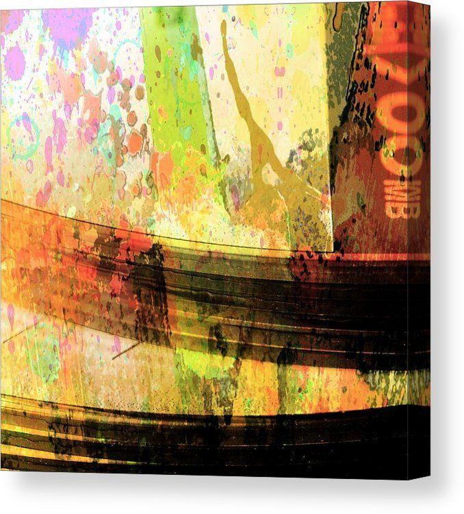 Cd Art Canvas Print featuring abstract mixed media C D Art nostalgia by Bob Pardue. #abstract #abstractphoto #photosforsale #homedecorideas #wallart #artwork #cd