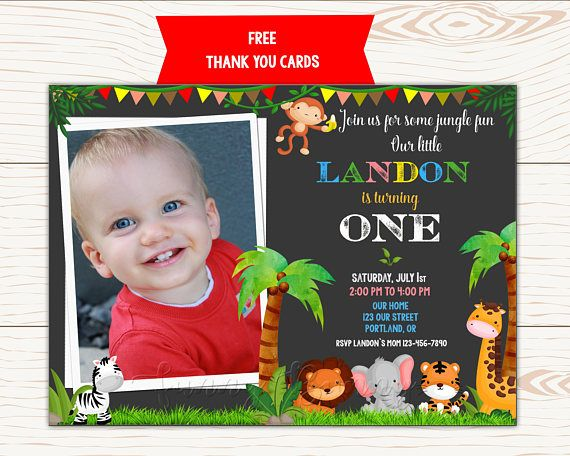 Photo jungle invitation first birthday outfit safari birthday photo jungle invitation first birthday outfit safari birthday filmwisefo