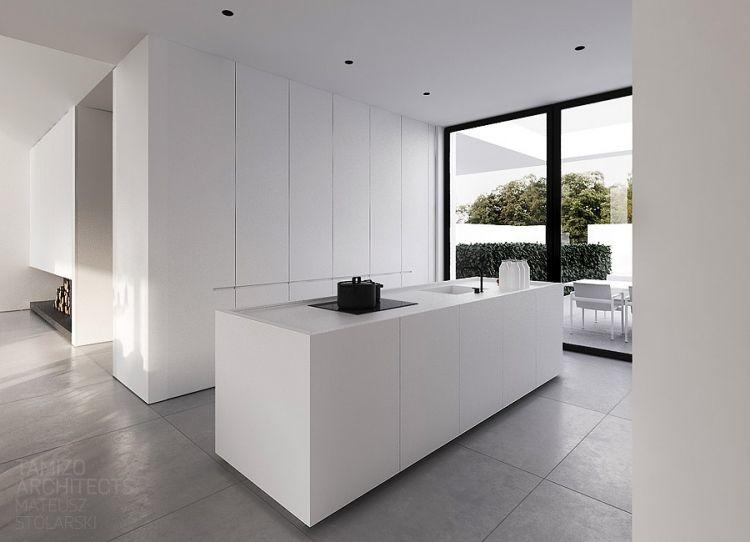 Minimalistische offene küche in warschau küche pinterest küche
