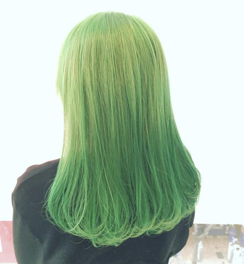 ミントグリーン ライトグリーン イエローグリーン グリーン 緑 黄緑 髪