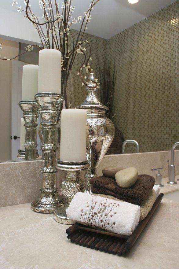 Unique Bathroom Decor Ideas #bathroomvanitydecor