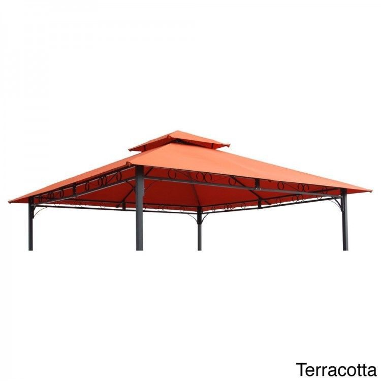 Replacement Canopy 10x10 Gazebo Cover Polyester Vented Patio Pavilion Sun Shade Gazebo Canopy Outdoor Gazebos Gazebo