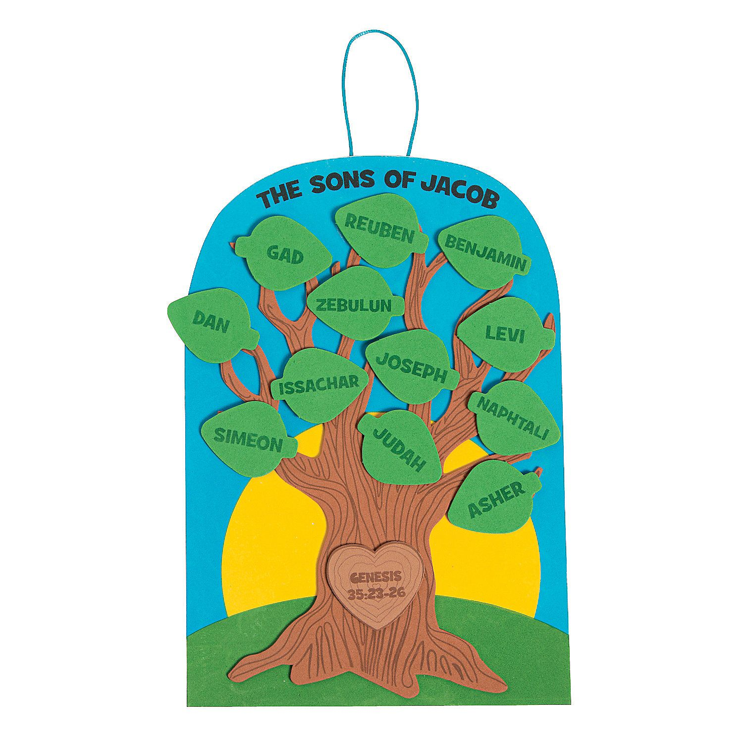 sons of jacob family tree craft kit decoration crafts crafts for