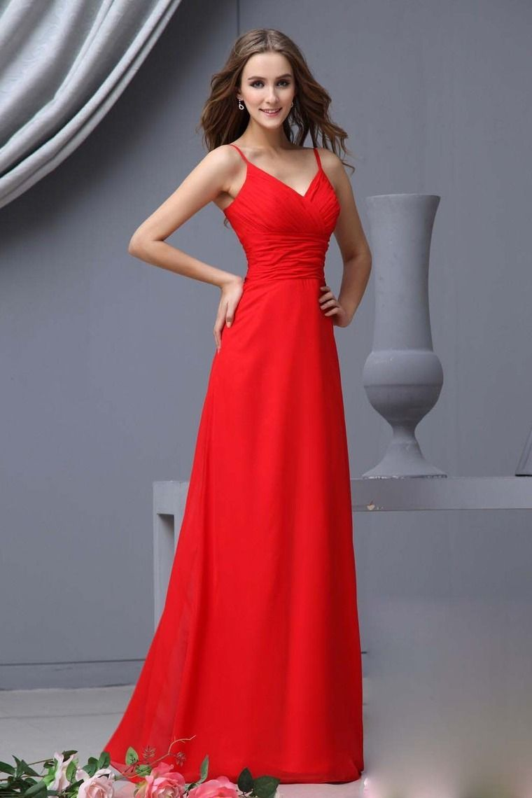 bridesmaid dresses red sheathcolumn empire waist v neck
