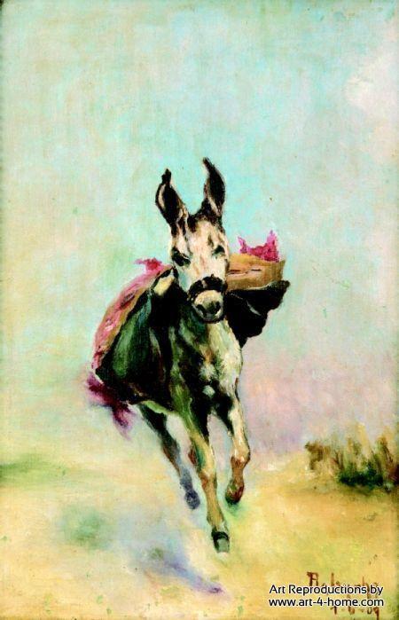 Burrinho Correndo 1909 By Anita Malfatti Animal Paintings