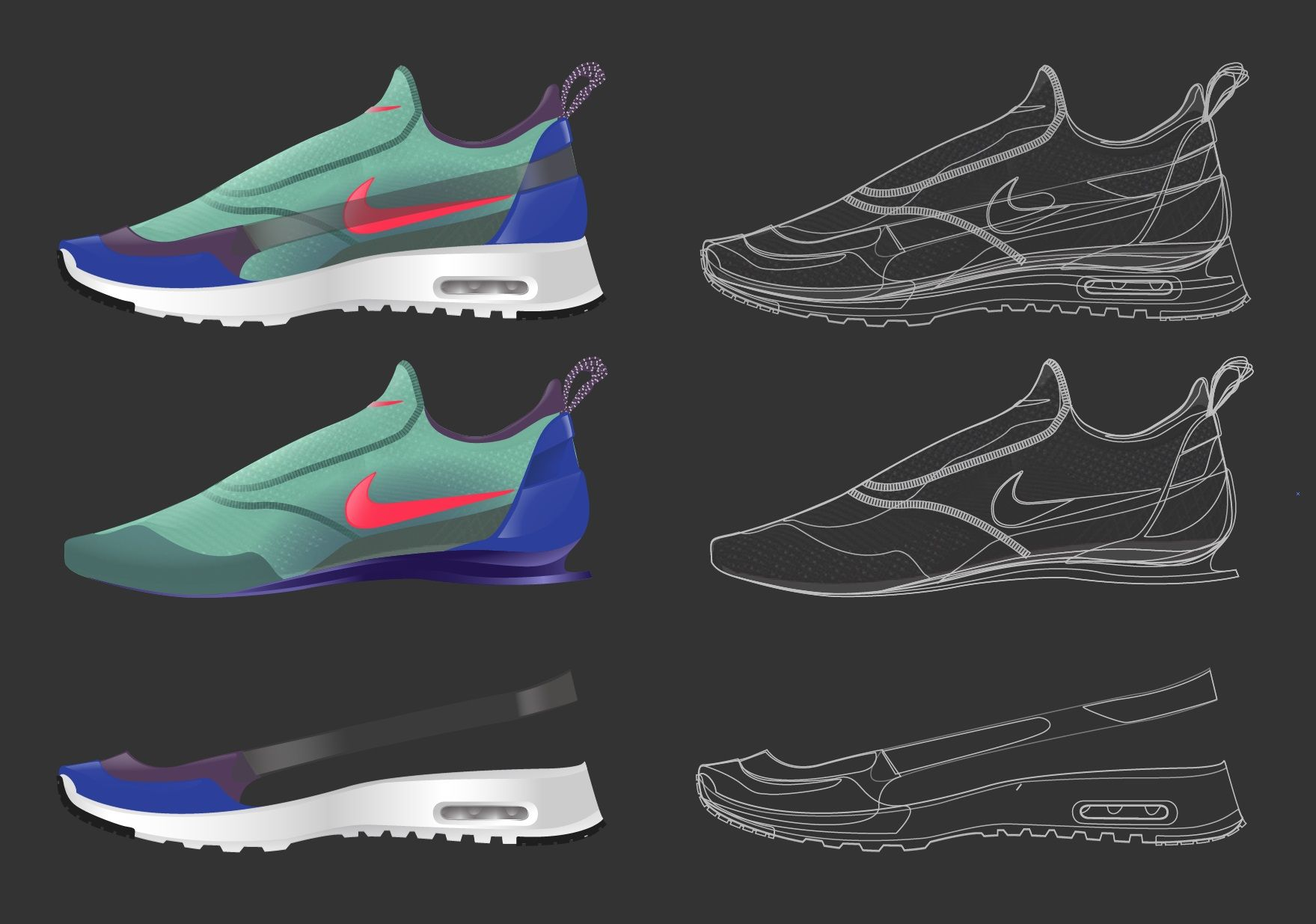 nike shoes concept air max elastic band