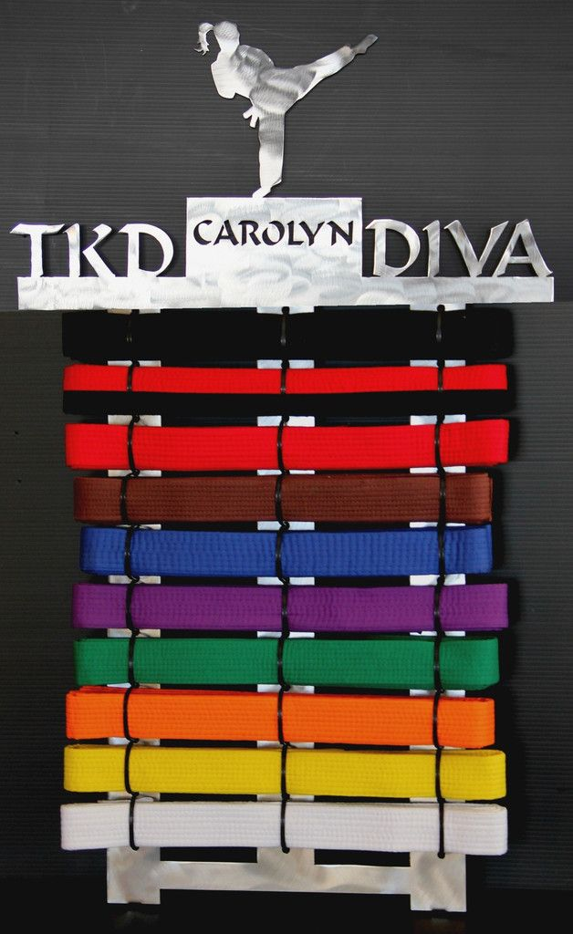 Tae Kwon Do Belt Display 10 Level Tae Kwon Do Karate