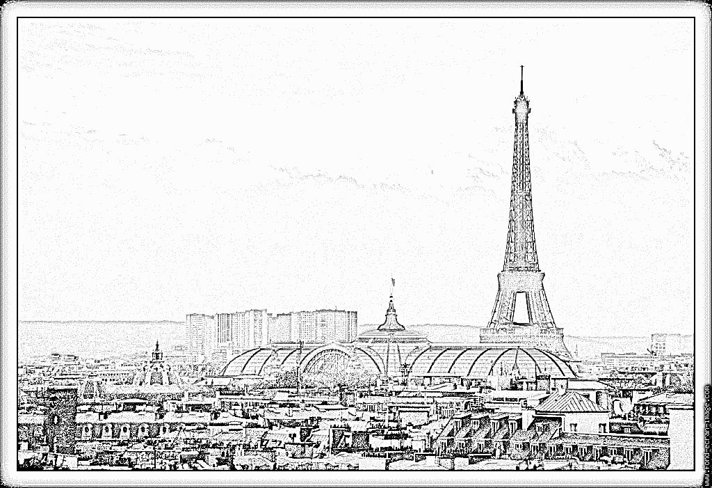 Torre Eiffel Llibre per pintar - Dibuix d'impressió (avec images)   Coloriage tour eiffel, Tour ...