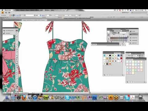 Illustrator Tutorial Changing Design Details Youtube Fashion Design Software Fashion Illustration Illustrator Tutorials