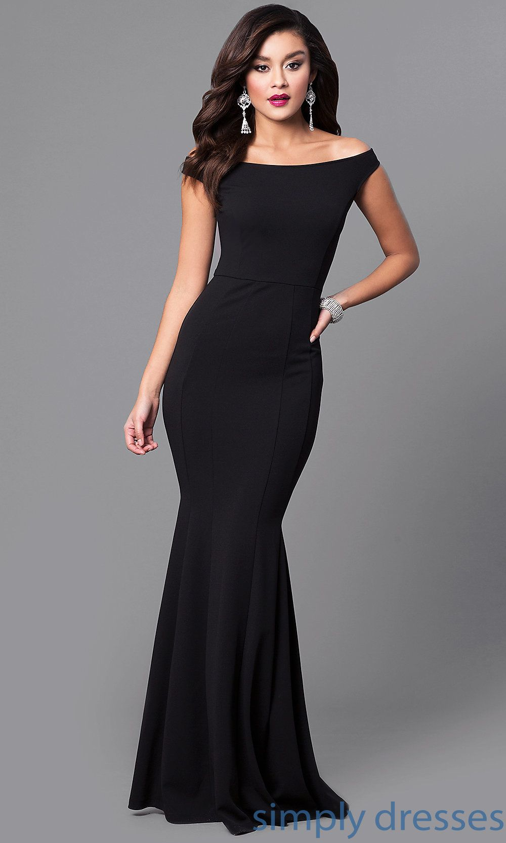 Off The Shoulder Mermaid Long Black Formal Dress In 2019 Black