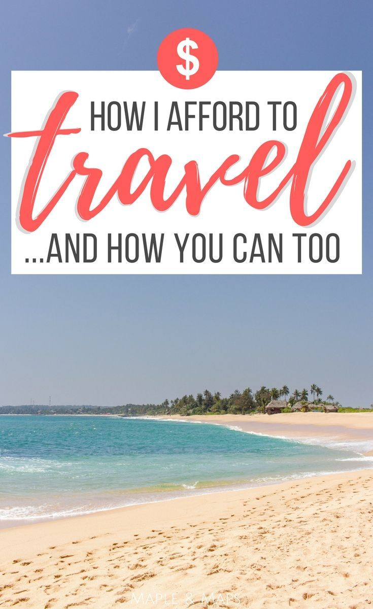 A step-by-step guide to saving money for travel. #travel #budget