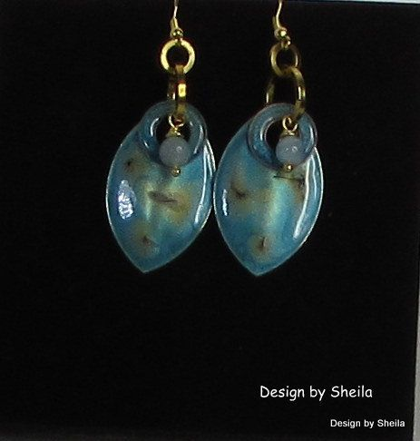 Hand Painted Earrings – Tropical Islands by DesignbySheila on Etsy