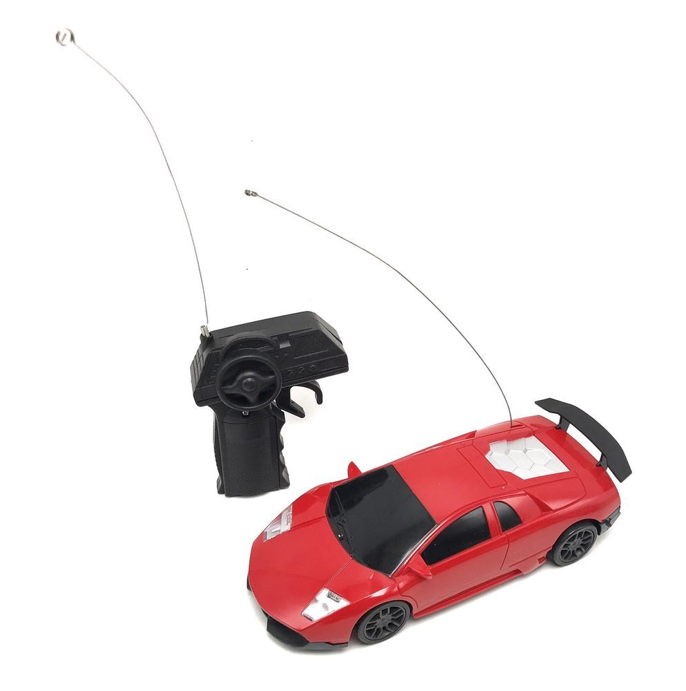 RC Race Car Sports Red Radio Controlled Scale Simple Function - Simple sports car