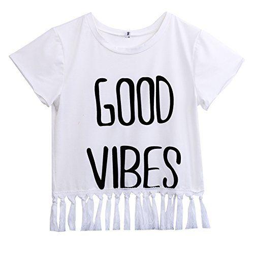 Women Summer Letter T-Shirt Short Sleeve Tassel Tops Blouse