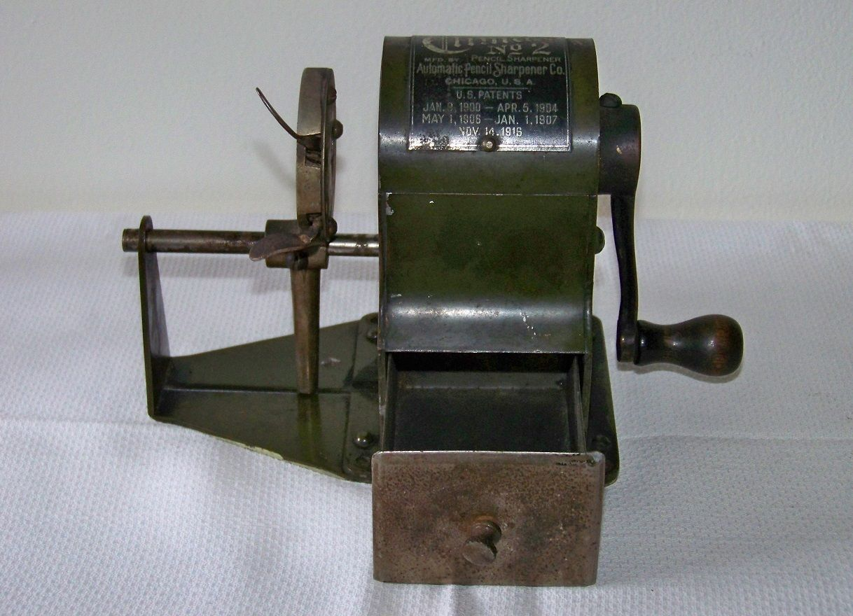 Antique 1916 Climax No 2 Wood Automatic Pencil Sharpener Co Chicago Usa