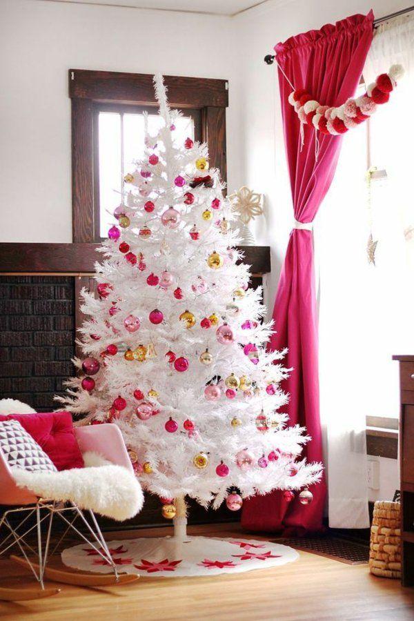 weisser tannenbaum 60 elegante interpretationen weihnachten k nstlicher. Black Bedroom Furniture Sets. Home Design Ideas