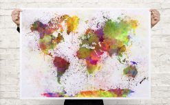 Colourful watercolour world map canvas art print poster cool colourful watercolour world map canvas art print poster gumiabroncs Gallery