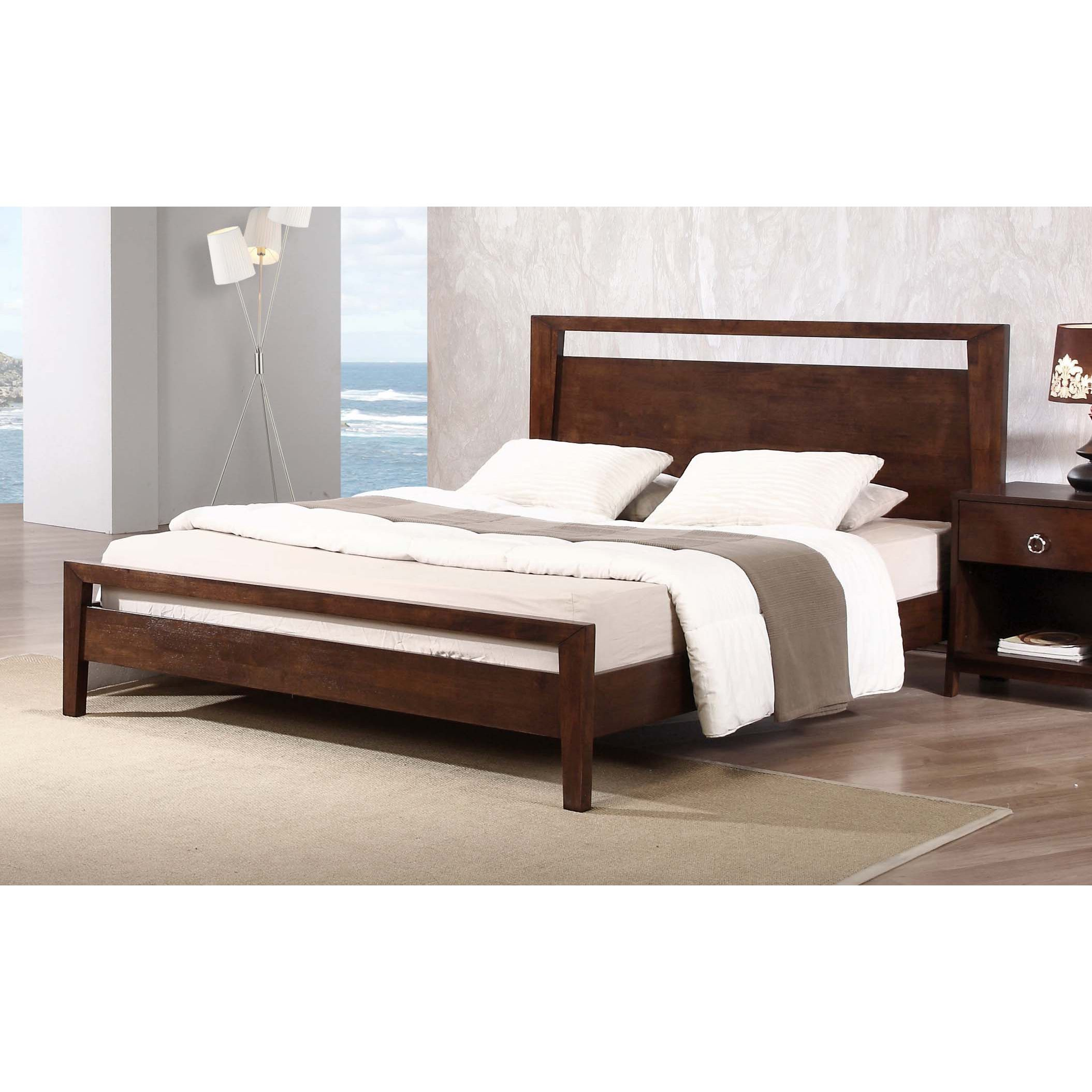 Kota Queen Platform Bed With Wood Frame And Night Stand | Queen Beds ...