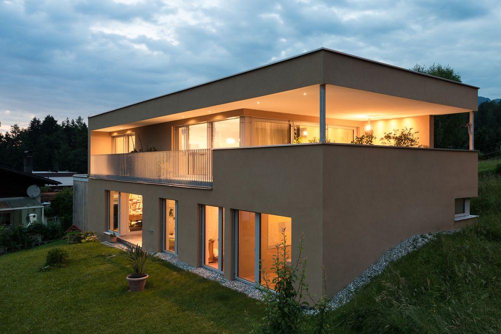 Einfamilienhaus# Batschuns# modern Massivbau# moderne Architektur ...