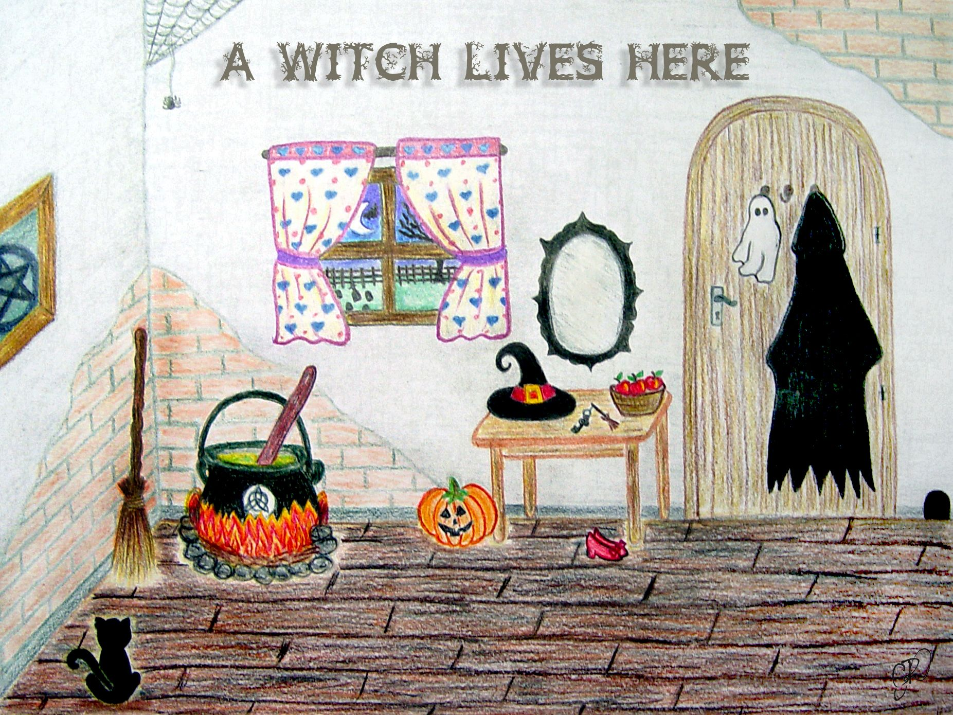 A Witch Lives Here.