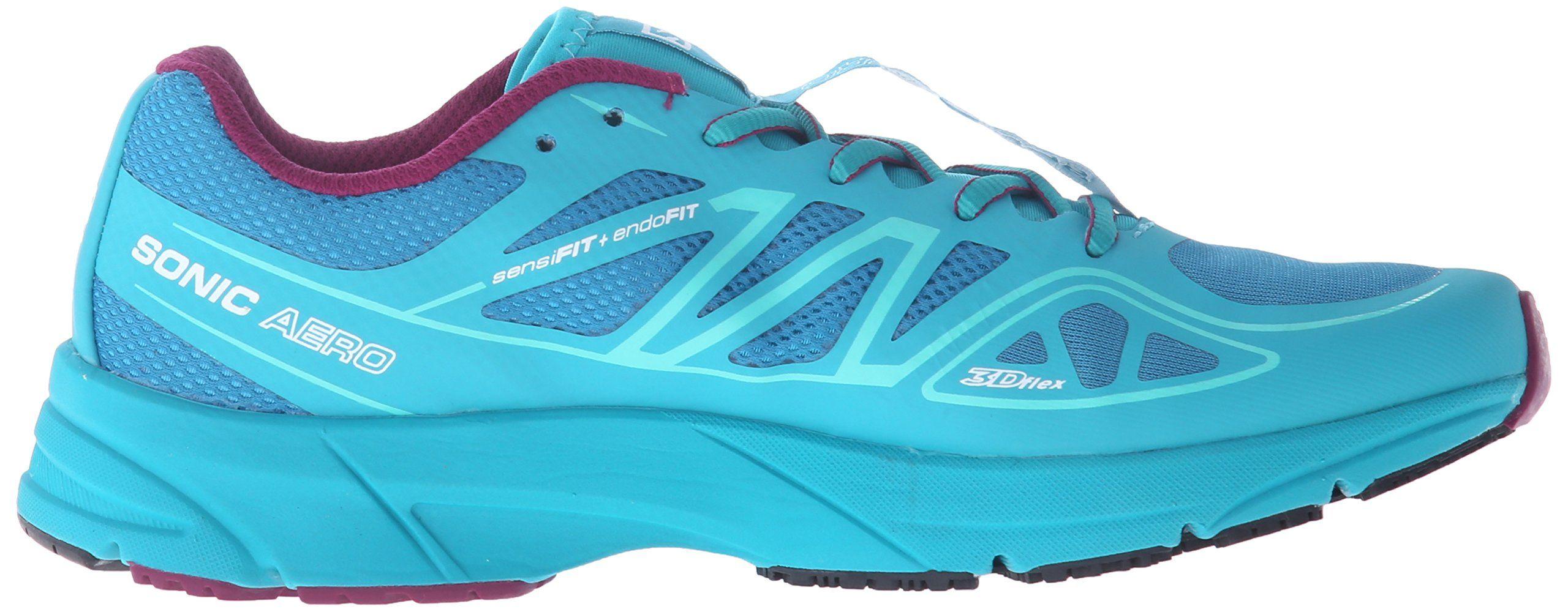 3470b1719cff Salomon Womens Sonic Aero W Running Shoe Fog Blue Teal Blue F Mystic Purple