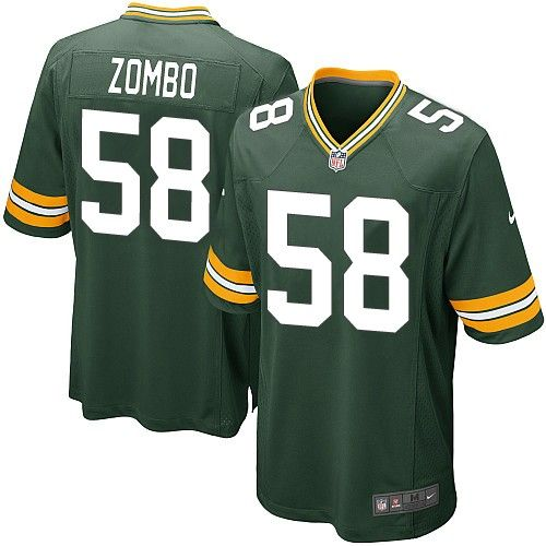 nike elite green bay packers frank zombo 58 green nfl jersey for sale sale cardinals kurt